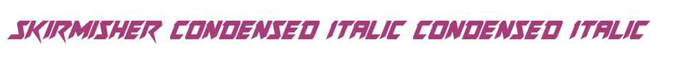 Skirmisher Condensed Italic