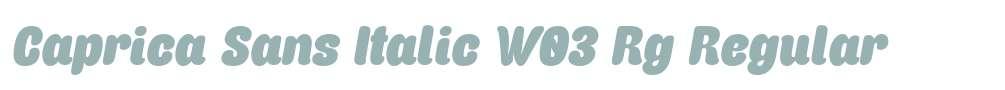 Caprica Sans Italic W03 Rg