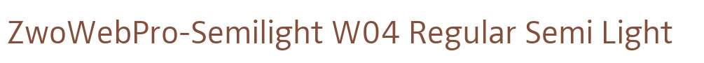 ZwoWebPro-Semilight W04 Regular