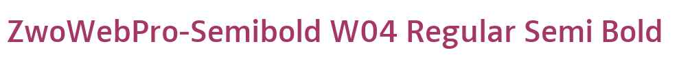 ZwoWebPro-Semibold W04 Regular