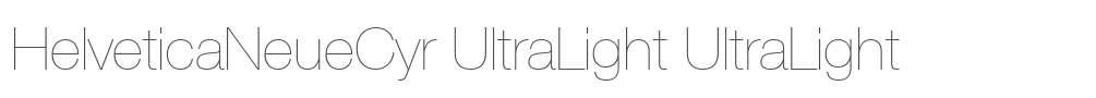 HelveticaNeueCyr UltraLight
