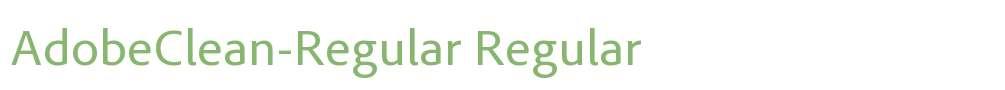 AdobeClean-Regular