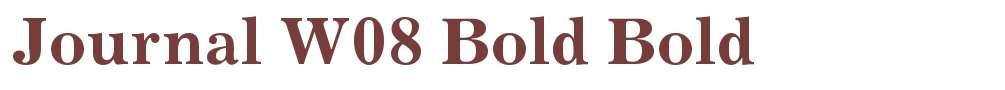 Journal W08 Bold