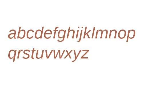 Liberation Sans Italic