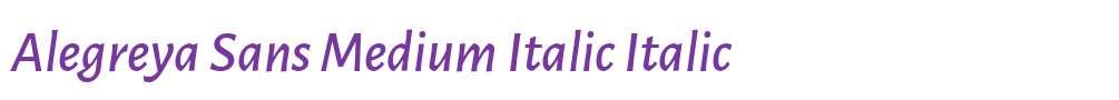 Alegreya Sans Medium Italic