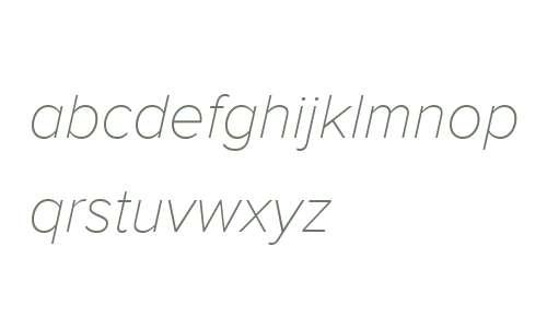 Proxima Nova W08 Thin Italic