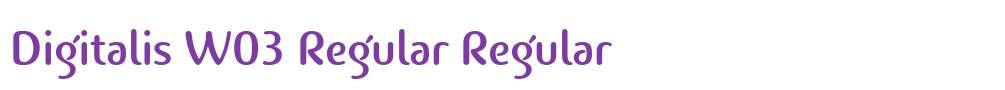 Digitalis W03 Regular
