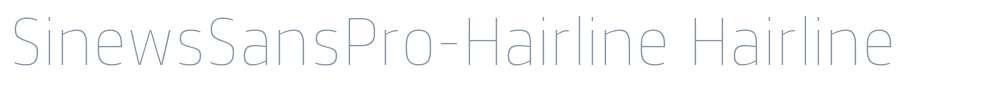 SinewsSansPro-Hairline