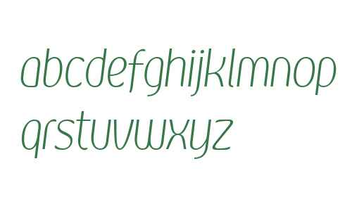 Kandira PERSONAL ExtraLight Italic
