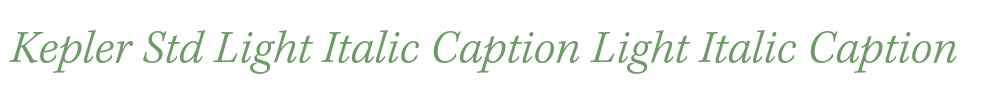 Kepler Std Light Italic Caption