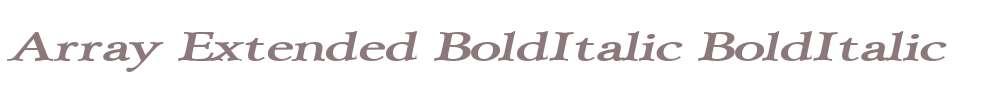 Array Extended BoldItalic