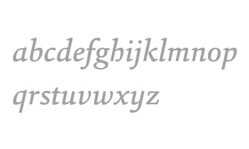 Sina W04 Medium Italic
