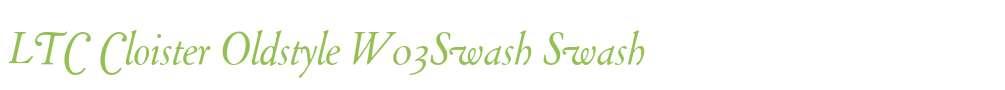 LTC Cloister Oldstyle W03Swash