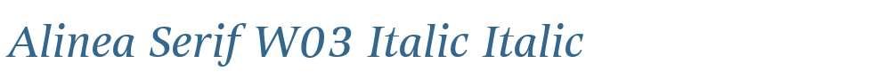 Alinea Serif W03 Italic