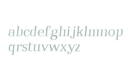 Embossanova W01 Light Italic