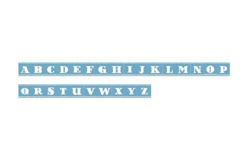 Film Letters Filled Regular
