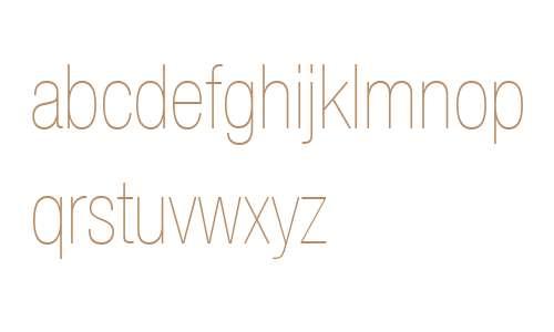 Helvetica Neue LT Com 27 Ultra Light Condensed