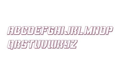 Thunder Trooper 3D Italic