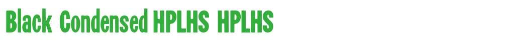 Black Condensed HPLHS