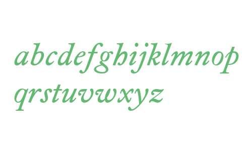 Foundry Wilson W03 Italic
