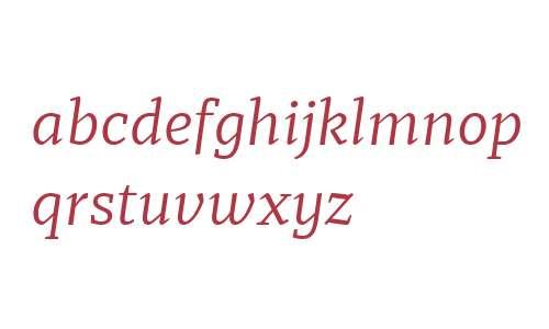 Recia W03 Regular Italic