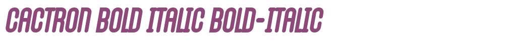 Cactron Bold Italic