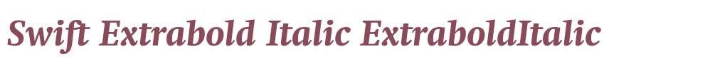 Swift Extrabold Italic
