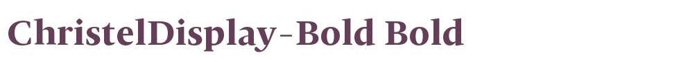 ChristelDisplay-Bold