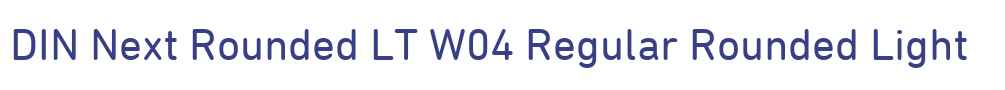 DIN Next Rounded LT W04 Regular