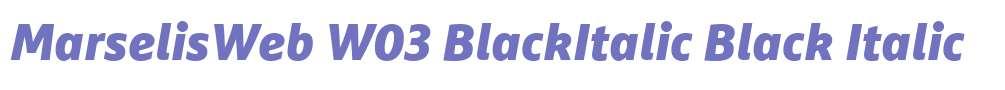 MarselisWeb W03 BlackItalic