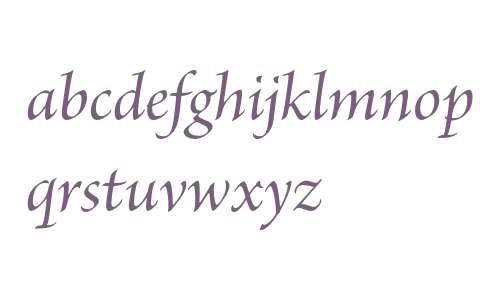Brioso Pro Medium Italic Subhead