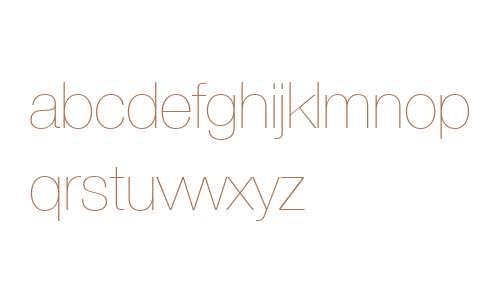 Helvetica Neue LT Com 25 Ultra Light