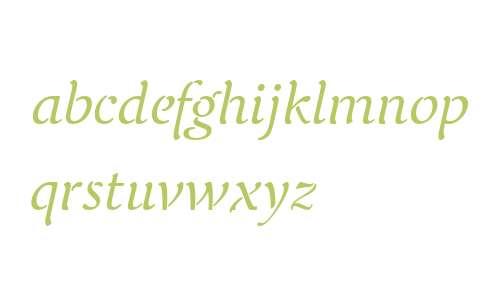 Elegie OT W03 Regular Italic
