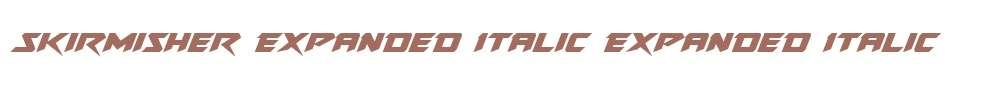 Skirmisher Expanded Italic