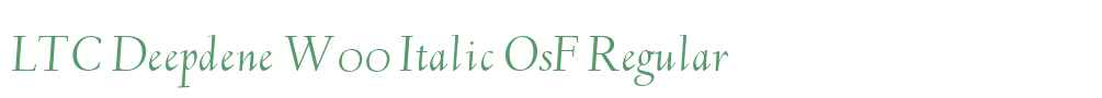 LTC Deepdene W00 Italic OsF