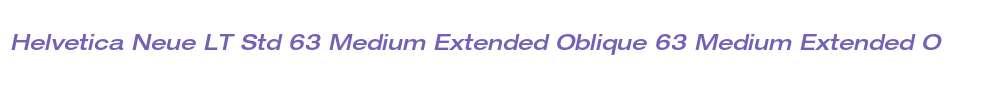 Helvetica Neue LT Std 63 Medium Extended Oblique