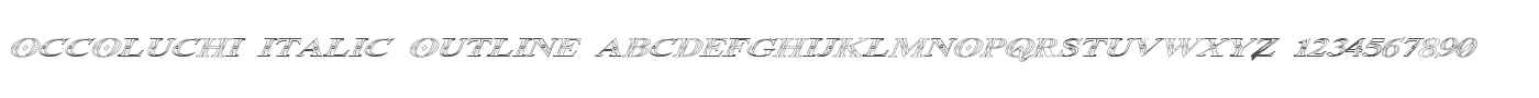 Occoluchi Italic Outline