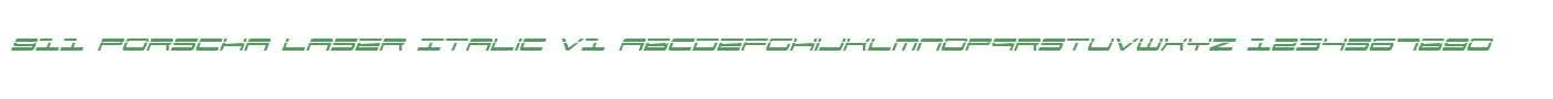 911 Porscha Laser Italic V1