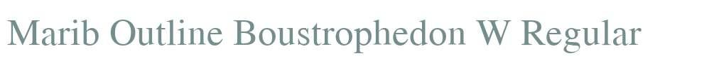 Marib Outline Boustrophedon W