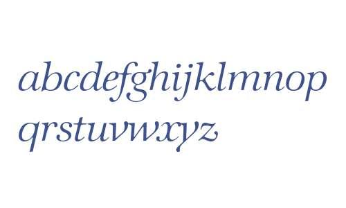 ITC Zapf International Light Italic