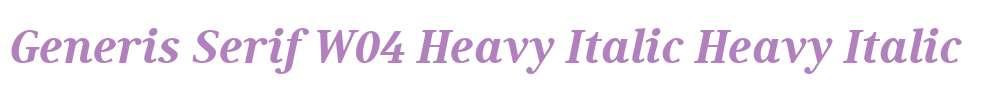 Generis Serif W04 Heavy Italic