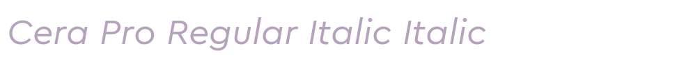 Cera Pro Regular Italic