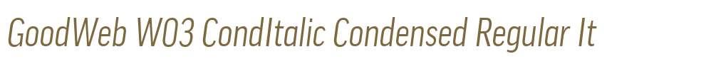 GoodWeb W03 CondItalic