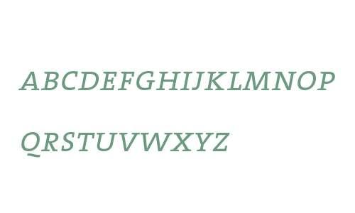 TheSerif SemiLight Caps Italic