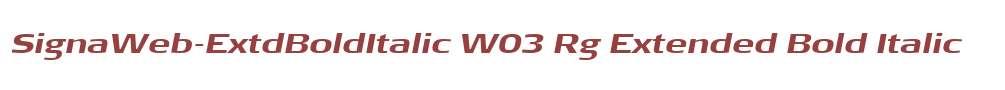 SignaWeb-ExtdBoldItalic W03 Rg