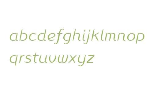 Inagur W04 Light Italic