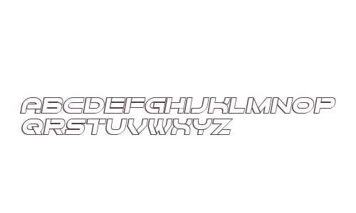 Forvertz 3D Italic