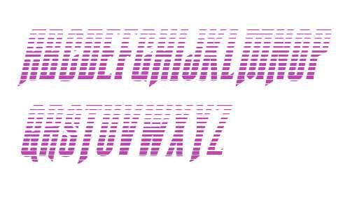 Butch & Sundance Gradient Italic