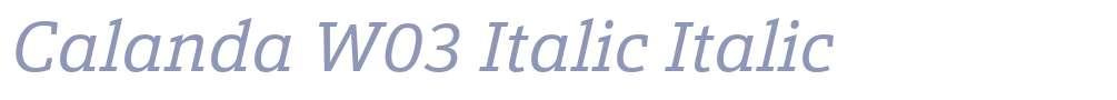 Calanda W03 Italic