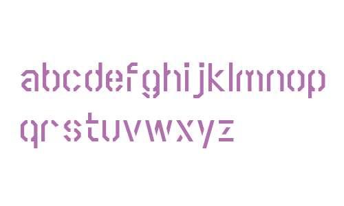 Scriber W00 Bold Stencil
